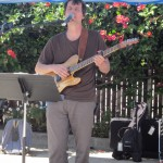 Cohousing resident and musician, singer, songwriter Adrian West (husband of Emeryville Mayor Jennifer West)