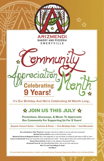 Buy Local: Arizmendi Celebrates 9 Years with Community Appreciation Month